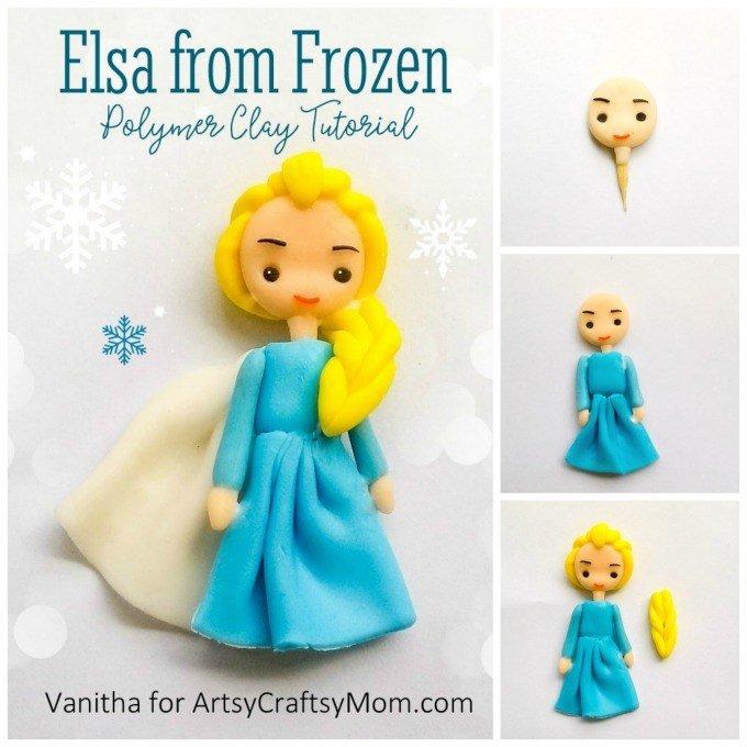 Adorable Frozen Elsa Polymer Clay Craft Tutorial