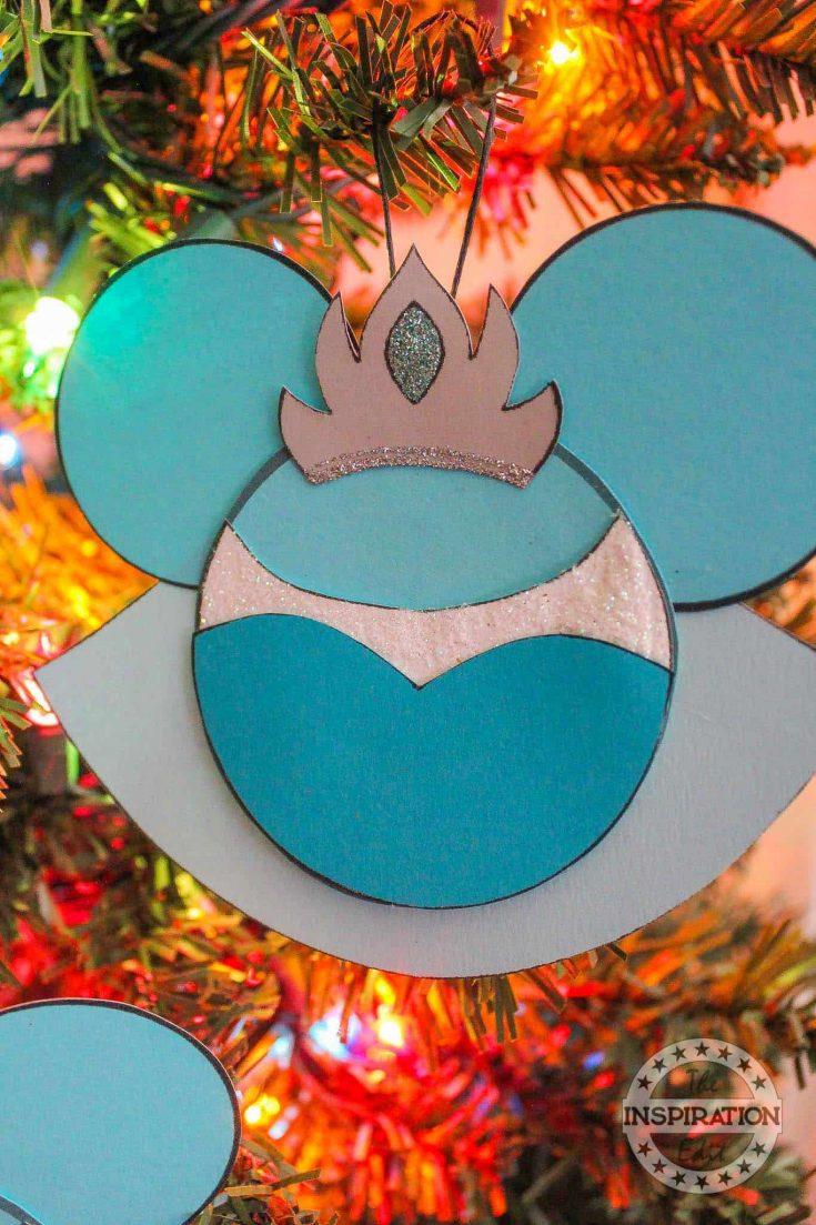 Disney Elsa Christmas Ornament Craft