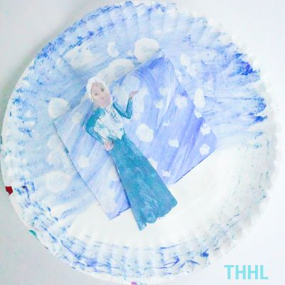 Queen Elsa Paper Plate Craft