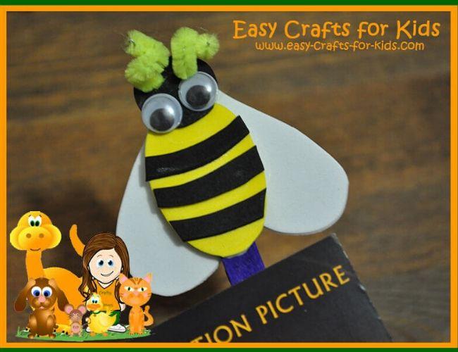 bumble bee bookmark craft