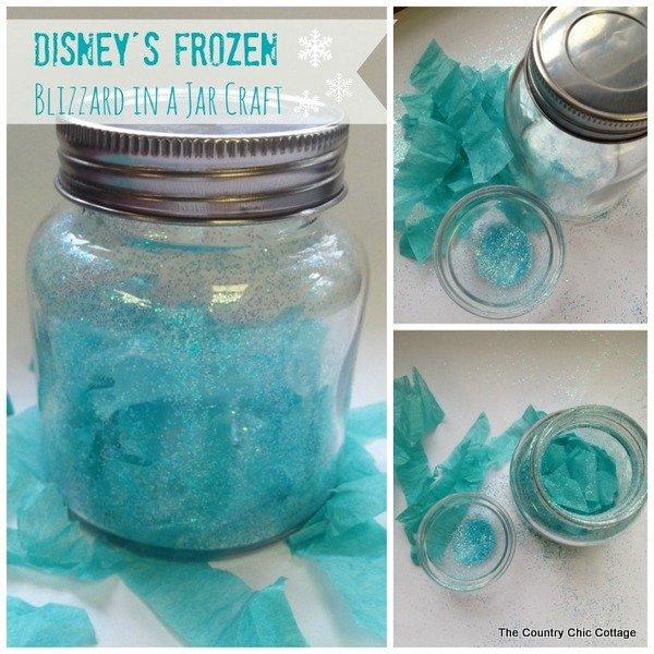 Disney's Frozen Craft -- Blizzard in a Jar