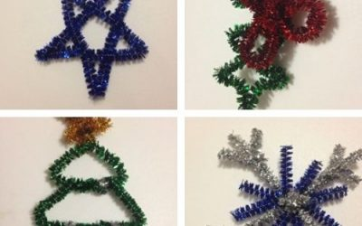 easy pipe cleaner ornaments