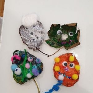 fall leaf craft monsters