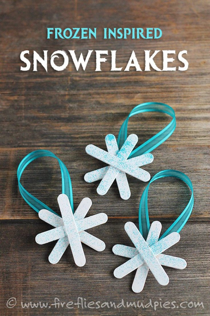 Frozen Inspired Snowflake Ornaments