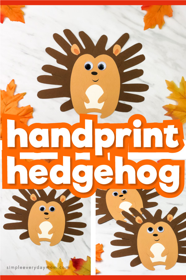 Cute Handprint Hedgehog Craft For Kids