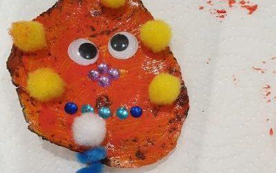 orange leaf monster craft