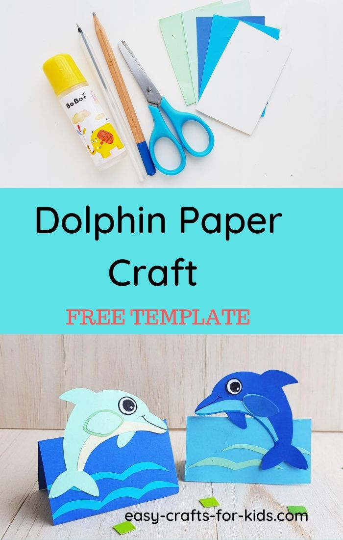 dolphin craft with paper