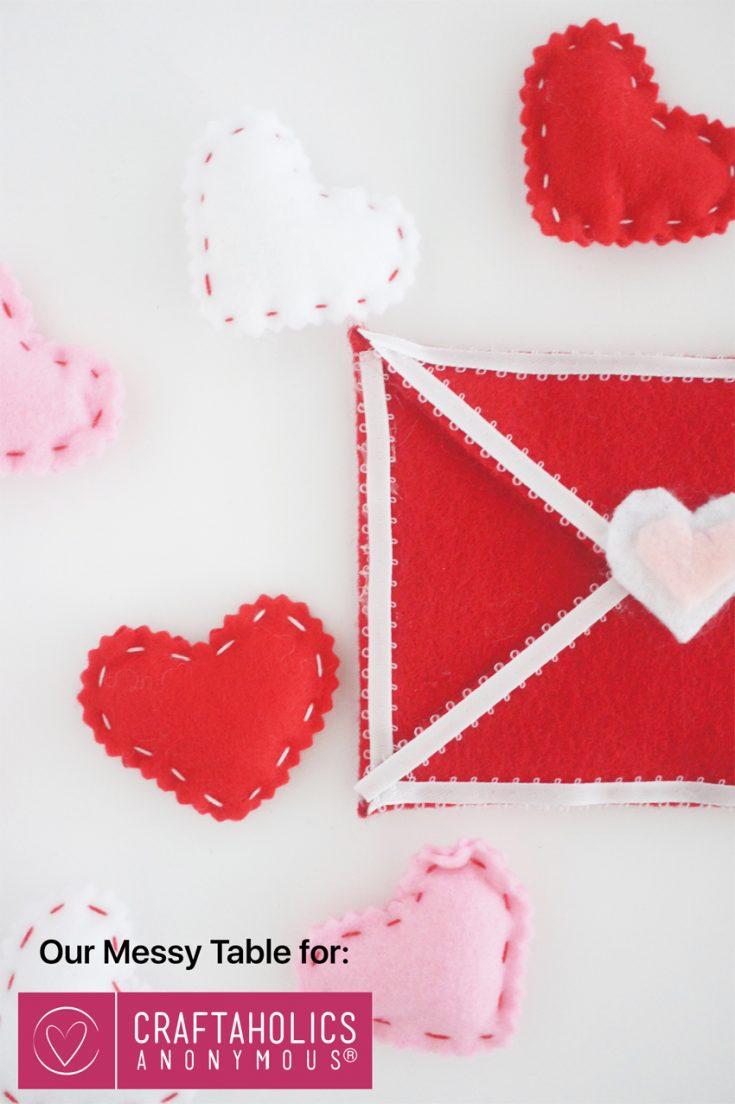 Easy Felt Envelope for Valentine's Day