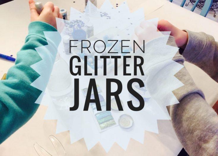 Winter Frozen Glitter Jars