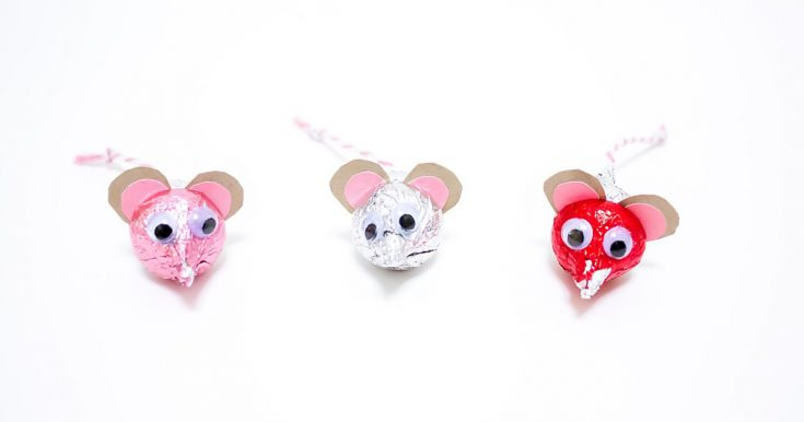 Hershey's Kisses Mice For Valentine's Day