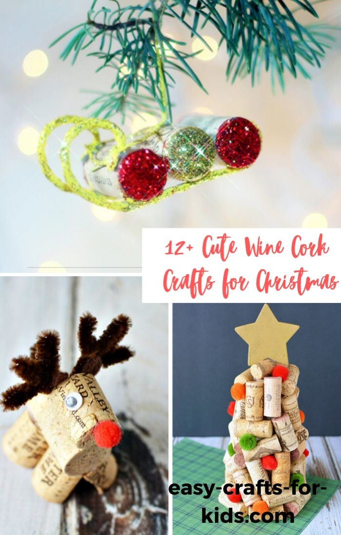 cute cork crafts for christmas