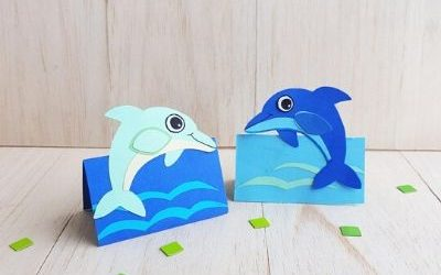 dolphin paper craft