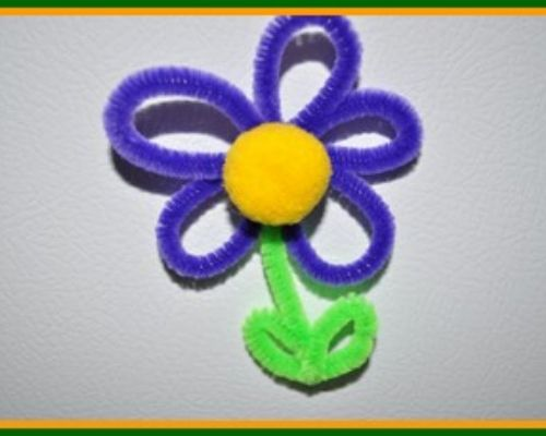 flower magnet craft