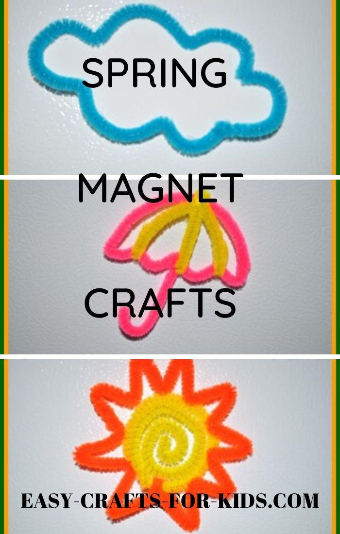 Spring magnet crafts kids
