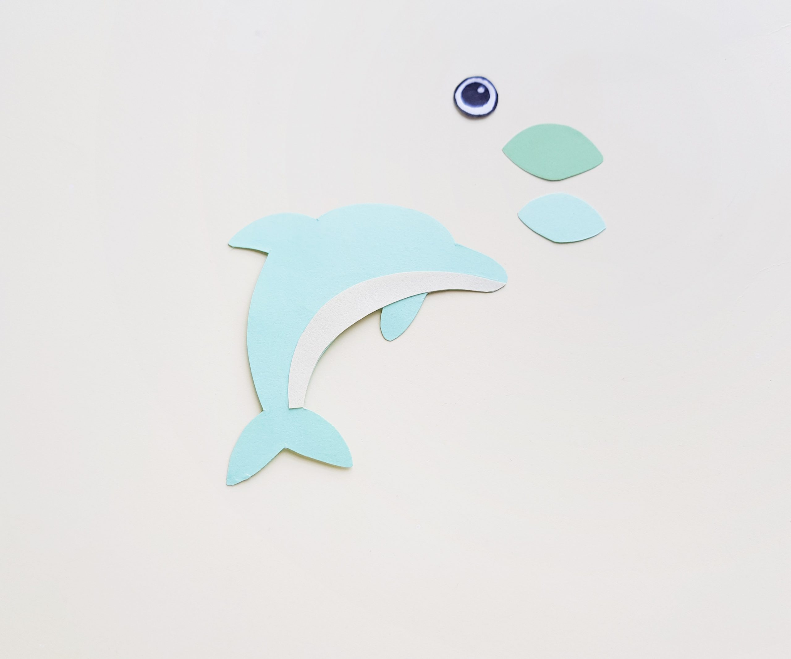 easy dolphin craft step by step