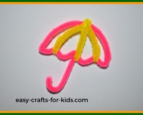 umbrella magnet spring kids craft