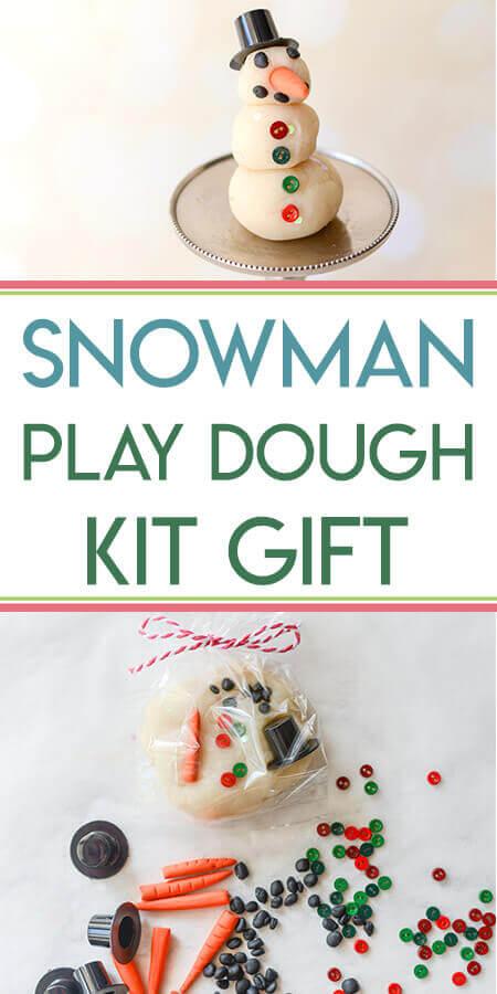 DIY Play Dough Snowman Kit Gift Tutorial