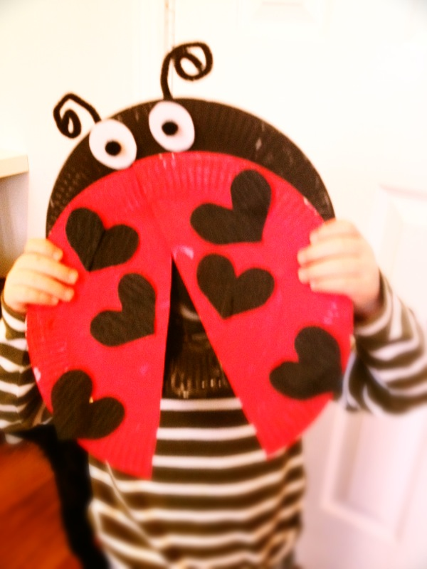 Ladybird craft for Valentine's Day