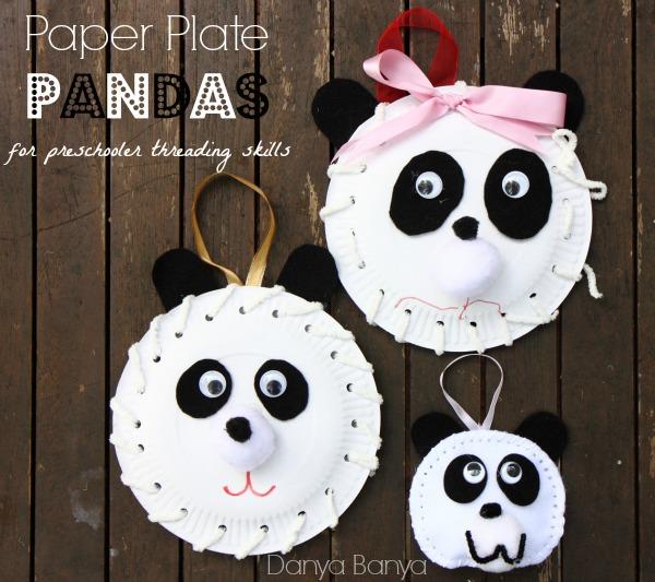 Paper Plate Panda – Danya Banya