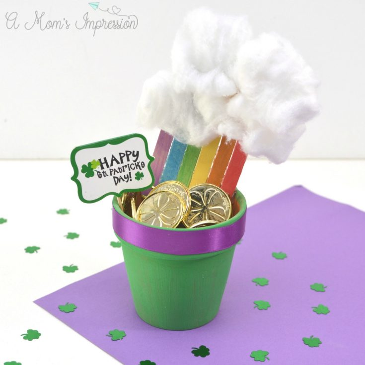Easy Rainbow Pot of Gold Craft for Kids Perfect for St. Patrick's Day