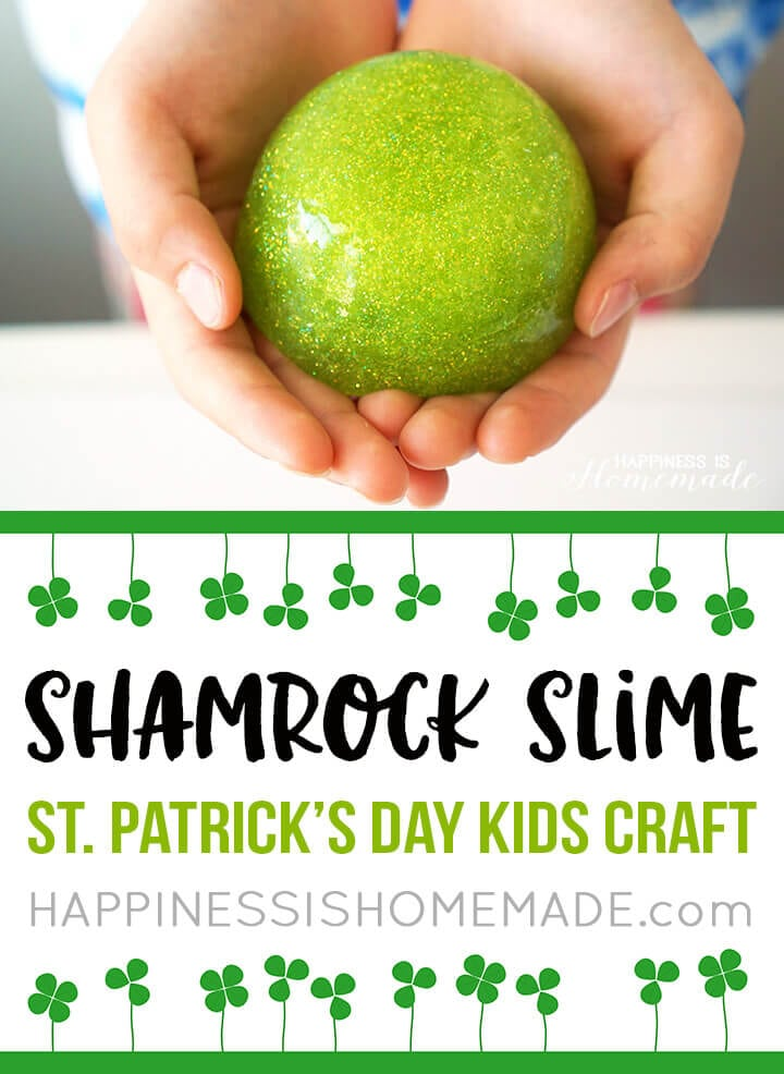 Shamrock Slime - St. Patrick's Day Kids Craft