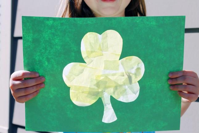 St. Patrick's Day Shamrock Suncatcher