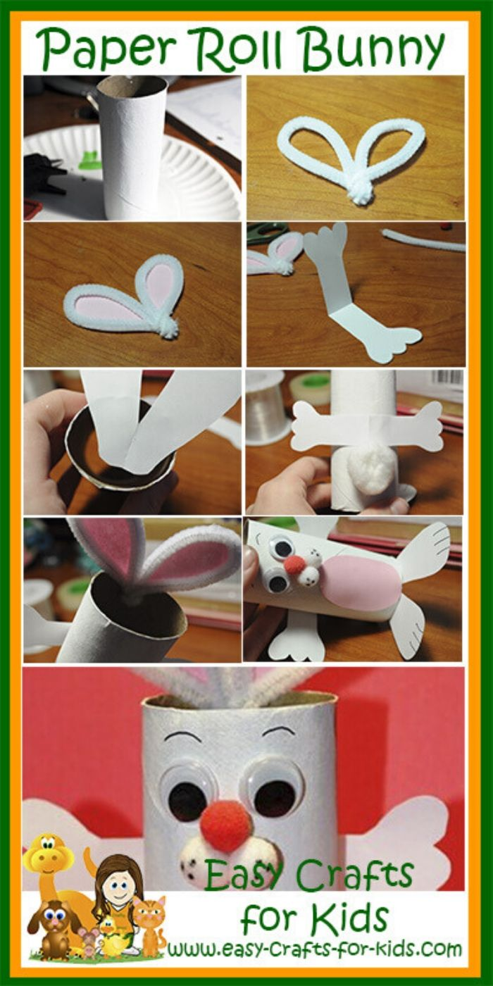 Toilet Paper Roll Easter Bunny