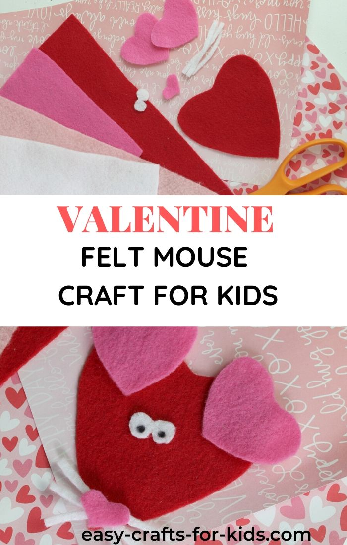 Valentine Day Felt Mouse Craft For Kids