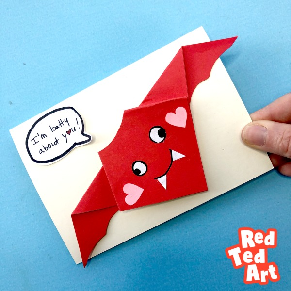 Valentines Origami Bat - I am Batty About You