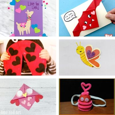 animal crafts for Valentine Day