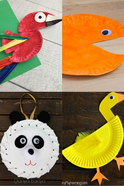 animals made from paper plates