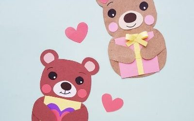bear paper crafts for kids
