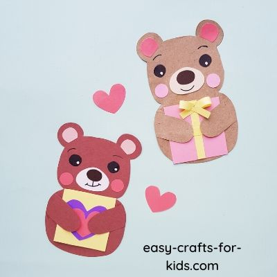 Valentine Bear Craft for Kids