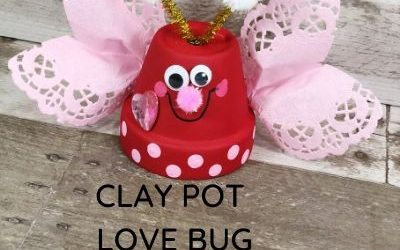 clay pot dollar store craft for Valentine