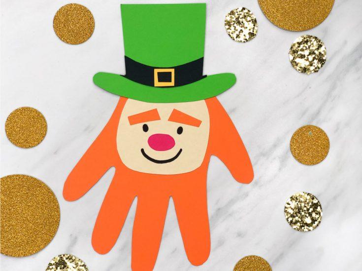 Make This Easy Leprechaun Handprint Craft For St. Patrick's Day