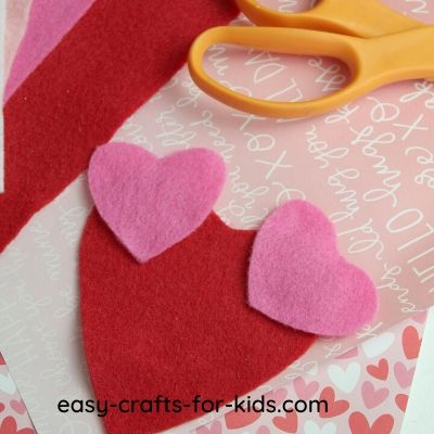heart felt mouse craft step by step
