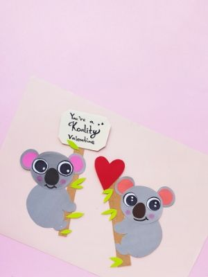 Koala Bear Craft For Valentine's Day