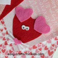 Valentine Day Felt Mouse Craft For Kids