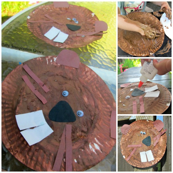 Beaver Paper Plate Craft for Kids {Booking Across the USA}
