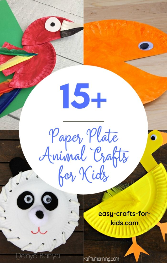 paper plate animal crafts for kids