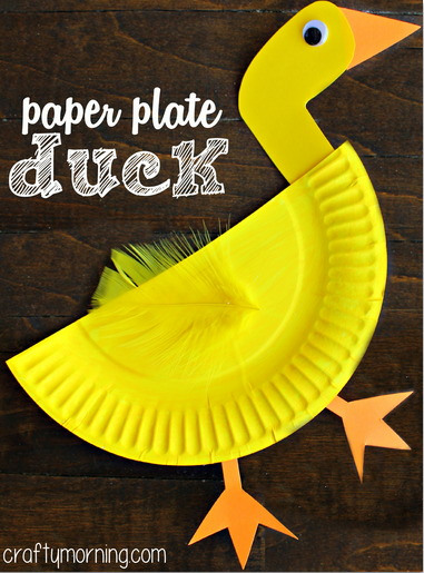 Paper Plate Duck Craft for Kids