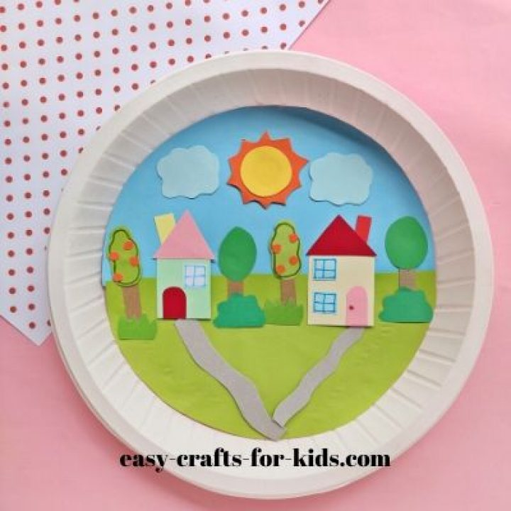 paper town craft for kids