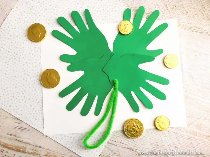 Children's Hand Shamrock Craft
