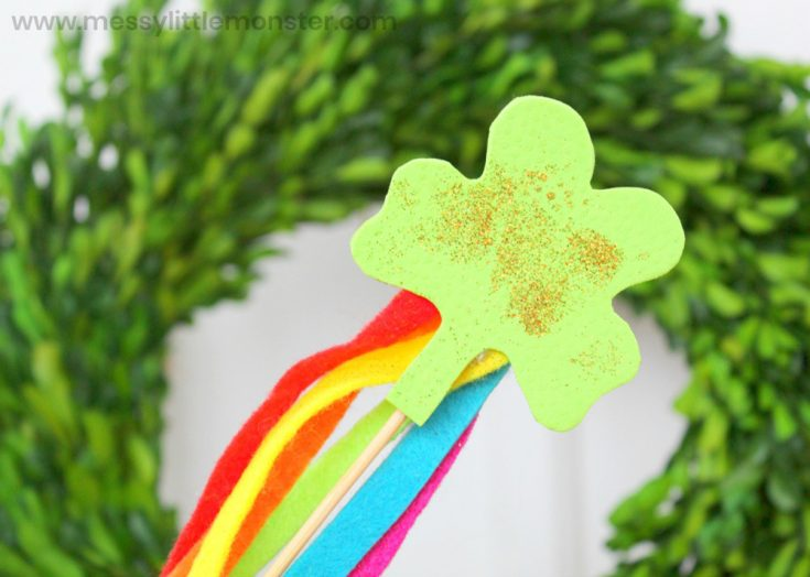 Shamrock Wand St Patricks Day Craft