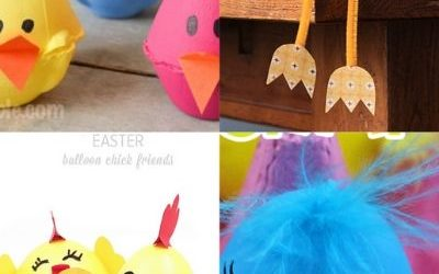 spring chick crafts for easter