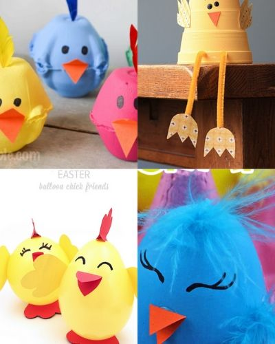 spring chick crafts for easter