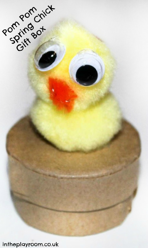 Spring Crafts for Kids : Spring Chick Gift Box