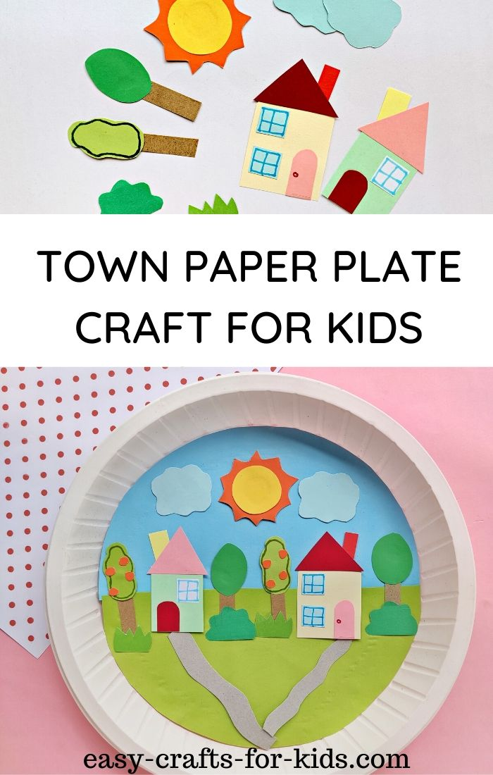 town paper plate craft for kids