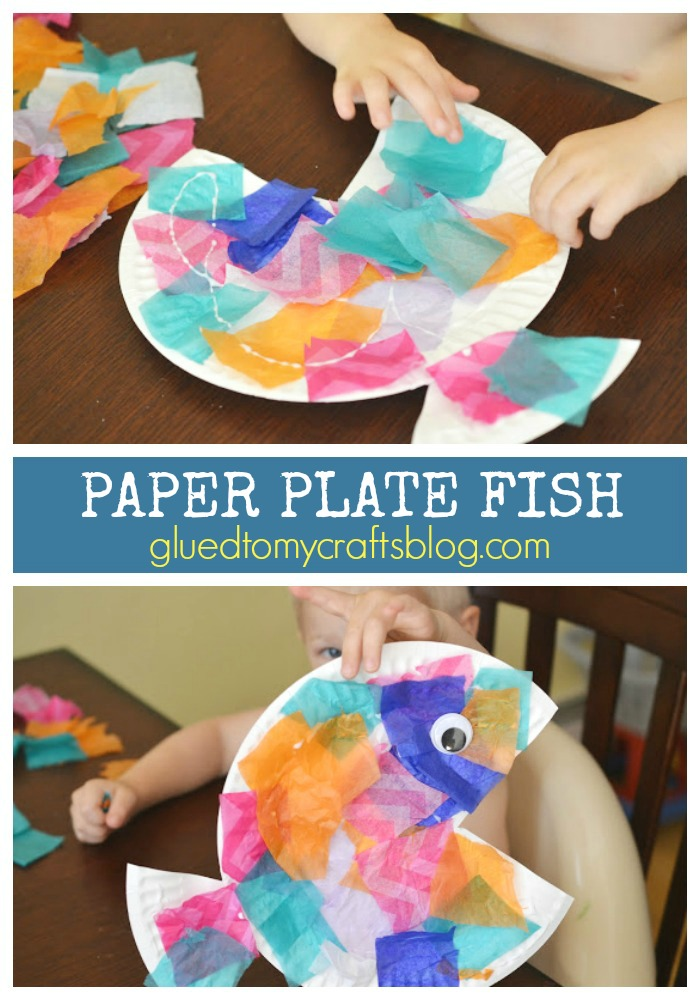 Tropical Paper Plate Fish - Kid Craft Idea For Toddlers To Make!