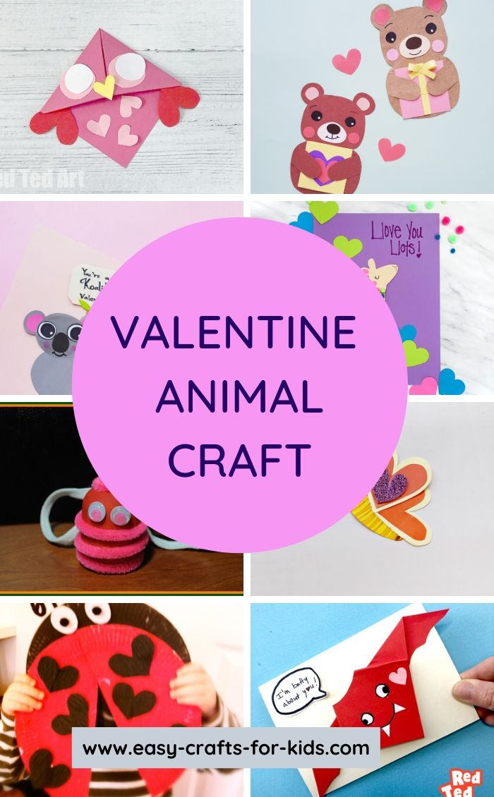 valentine animal craft